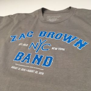 Zac Brown Band 2015 Citi Field NYC Concert Shirt
